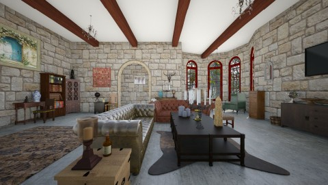 medieval front room - Living room - by emilyjyeomans