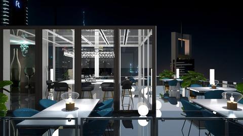 Rooftop bar at night - by jagwas