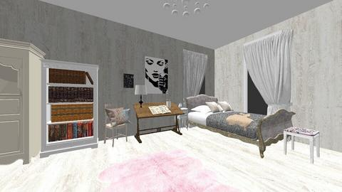 Shabby bedroom - Retro - Bedroom - by NaomiGraceR