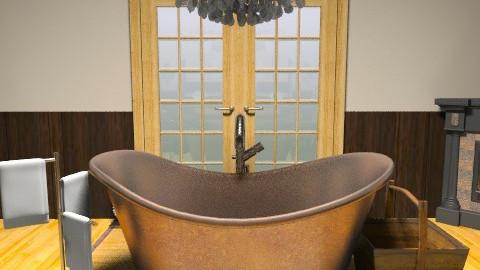 Master Bath (from N wall) - Rustic - Bathroom - by stargurl90008