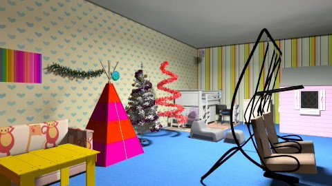 Retro Kiddy Room - Vintage - Bedroom - by rubylola