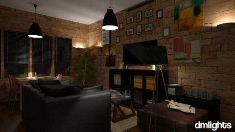 Flat - Classic - Living room - by DMLights-user-1172368