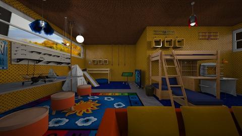 Orange and Blue - Kids room - by LilDebbieFrmDwnDaStreet