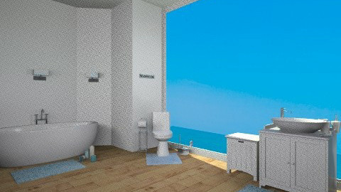 A touch of blue bathroom - Bathroom - by TheDesignQueen