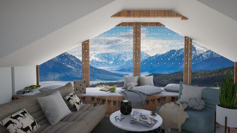 Moutains - Living room - by sillvie
