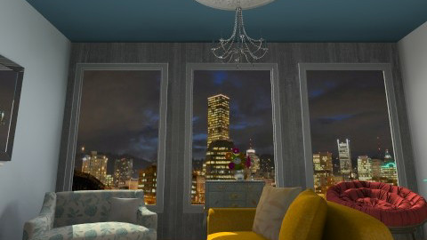 night shot dock - Living room - by Dees designs