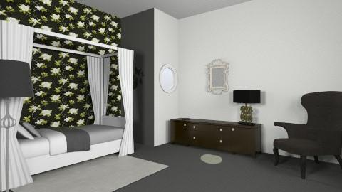 Black and White bedroom - by Tatjanaa Linsenn