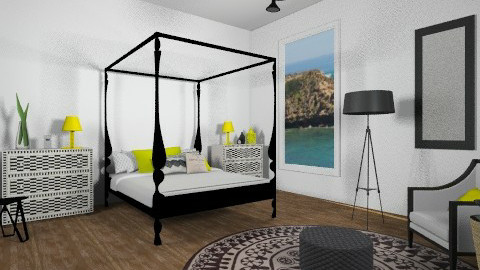 blackwhiteyellow - Modern - Bedroom - by cara_98