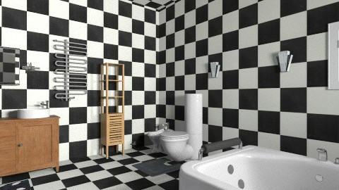 chess in bathroom - Classic - Bathroom - by iglitola
