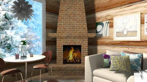Cozy Log Cabin - Living room - by fenwayb