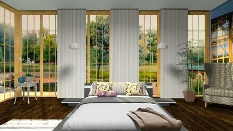 Wall Murals_In Bedrooms - Minimal - Bedroom - by janip