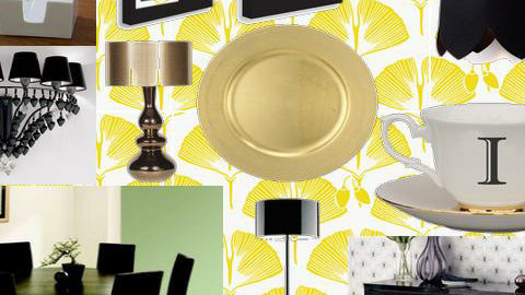 Black and Gold - Dining room - by Boadie