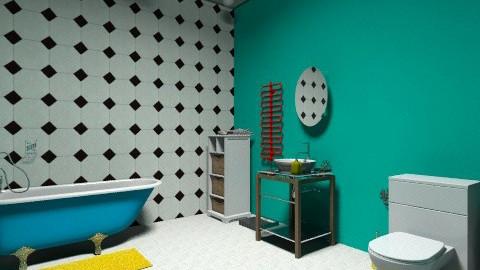 bathroom nr1 - Retro - Bathroom - by norak