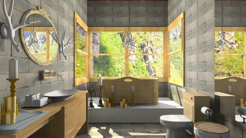 Cabana da vic banheiro - Country - Bathroom - by wagner herbst padilha