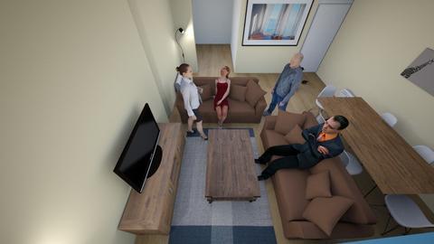 salon_masa_arkada - Living room - by ayhanyks