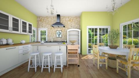 Lime chiffon - Country - Kitchen - by talialodaya