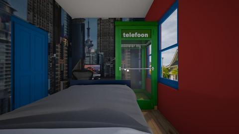 Superman Inspired Room 2 - Bedroom - by SammyJPili