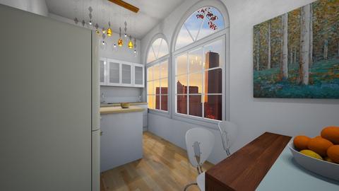 White glass - Modern - Kitchen - by Twerka