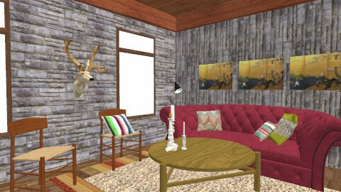 Cabin Fever  - Living room - by tayloriginal