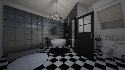 black and white - Classic - Bathroom - by kla