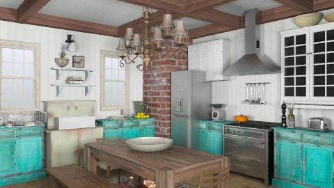 Southern Cottage Kitchen - Vintage - Kitchen - by LizyD