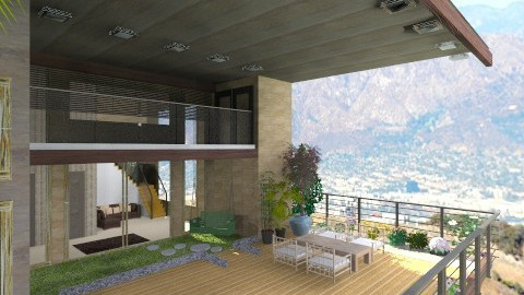 Frank Lloyd Right - Living room - by hannahsdesigns
