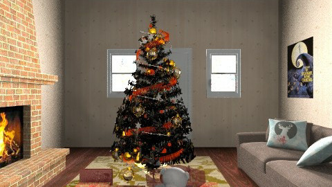 Merry Christmas - Glamour - Living room - by Klaudia Zajdel