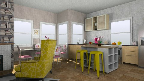 pink - Glamour - Kitchen - by sarahl