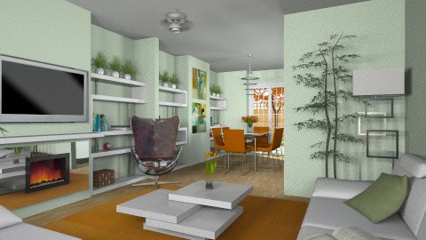 For Andrew and Bexs 2 - Eclectic - Living room - by Theadora