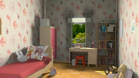 Memory lane - Retro - Kids room - by monikica