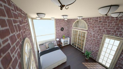 Brick Bedroom - Bedroom - by ra101