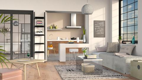 One Room Apartment - Minimal - Living room - by Sally Simpson