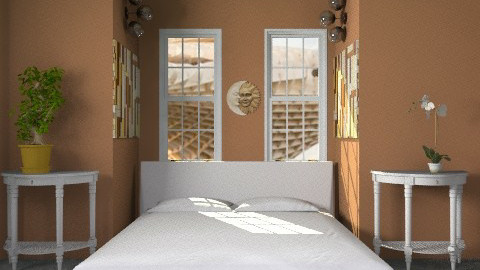 maroon - Modern - Bedroom - by lavilavinia