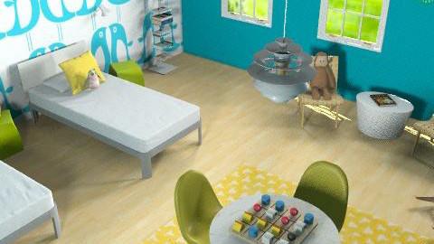 kid's room - Retro - Kids room - by marcychapman