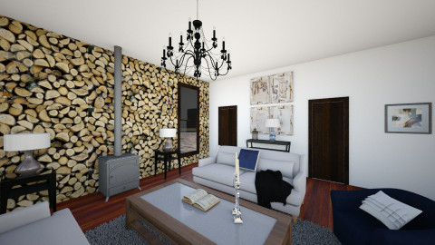 Symmetrical Living - Glamour - Living room - by RedVelvet21