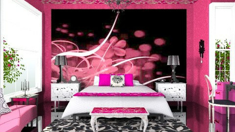 miss fuscia - Glamour - Bedroom - by trees designs