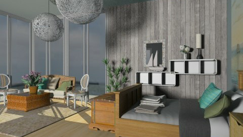 Seaside II - Minimal - Bedroom - by PomBom