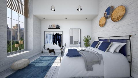Cool Blue - Modern - Bedroom - by hannahglass