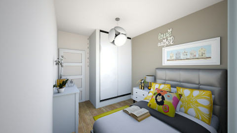 sunny bedroom 3 - Minimal - Bedroom - by anzua