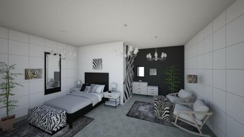 Zany Zebra Bedroom - Retro - Bedroom - by millerfam