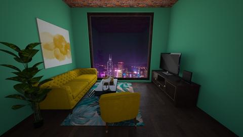 Golden teals - Living room - by PipPipJangles
