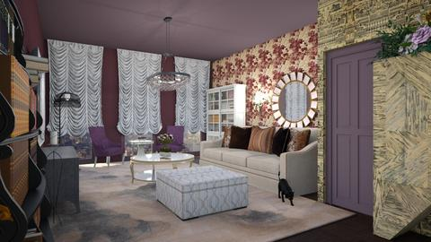 Template room 2 - Glamour - Living room - by Tree Nut