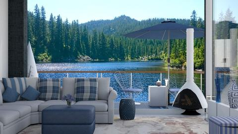 Lake view mountain - Living room - by Wildflowers