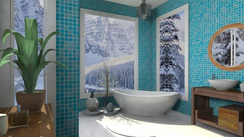 bathroom blue - Eclectic - Bathroom - by mikaela7