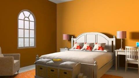 Orange Delight - Country - Bedroom - by daisies4u2