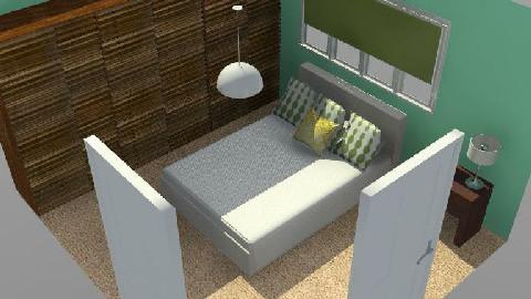 T13 - Green Minimalist - Minimal - Bedroom - by gingerpantz