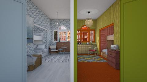 Two styles - Bedroom - by HenkRetro1960
