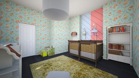 Nursery For Twins - Kids room - by SammyJPili