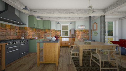 Crofters cottage - Country - Kitchen - by mrschicken