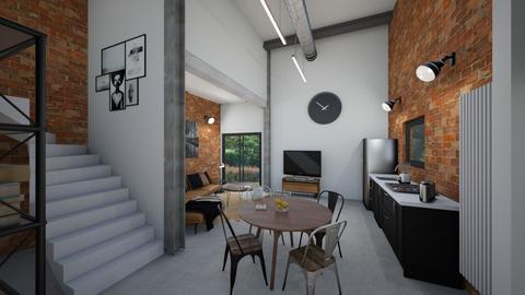 Small industrial 2 - Modern - Kitchen - by tornadolynn